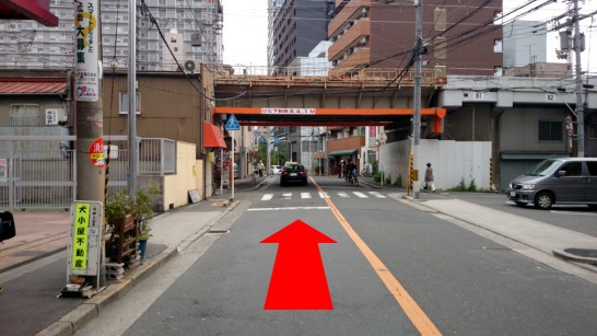 大阪市営地下鉄「中崎町」駅1番出口からNEOSTEPへのアクセス方法5