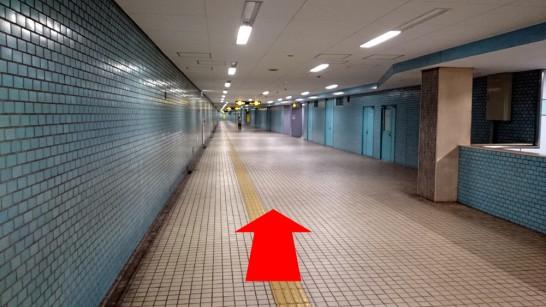 大阪市営地下鉄「中崎町」駅3番出口からNEOSTEPへのアクセス方法2
