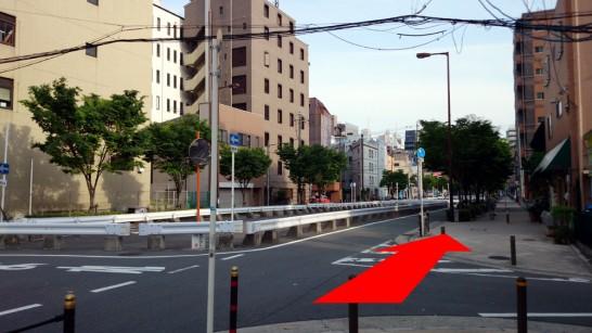 大阪市営地下鉄「中崎町」駅3番出口からNEOSTEPへのアクセス方法7