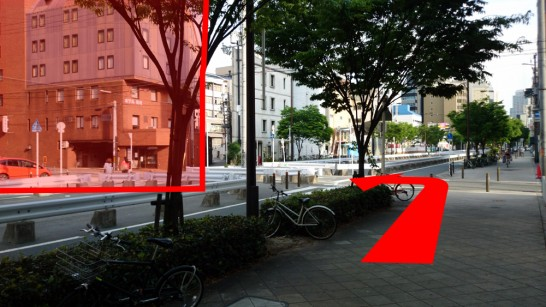 大阪市営地下鉄「中崎町」駅3番出口からNEOSTEPへのアクセス方法8