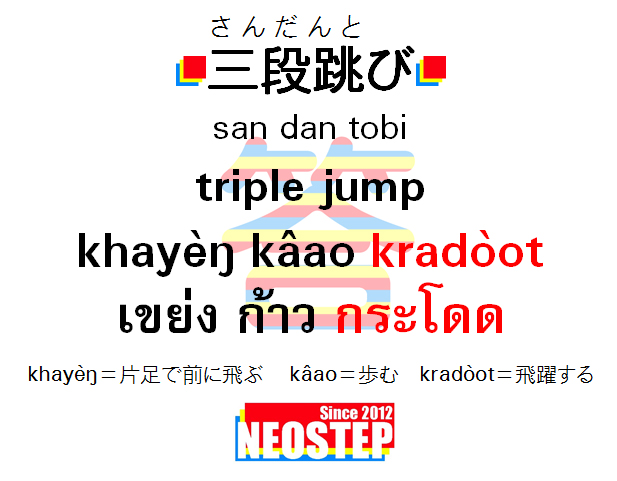 三段跳び-ワンポイントタイ語表現