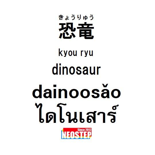 恐竜-ワンポイントタイ語表現