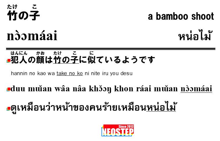 竹の子-ワンポイントタイ語表現