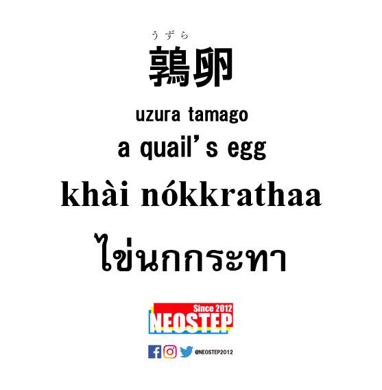 鶉卵-ワンポイントタイ語表現